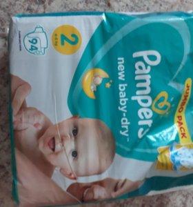 Подгузники pampers new baby-dry