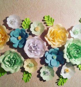 Бумажные цветы.