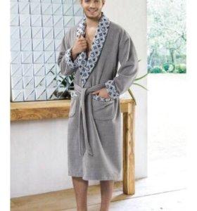 Новый мужской махровый халат