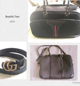 Gucci ремень,сумка