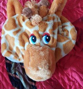 """Новогодняя шапка """"Жираф"""""""