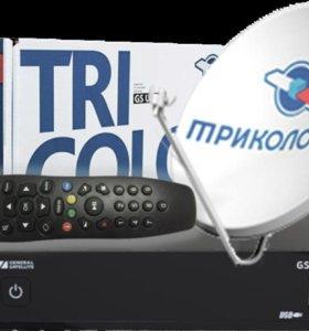 Установка спутникового ТВ МТС, НТВ+, Триколор