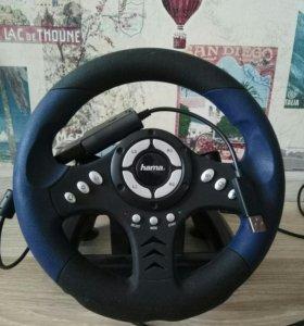 Игровой руль hama racing wheel Thunder V18