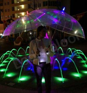 Светящиеся LED зонты оптом
