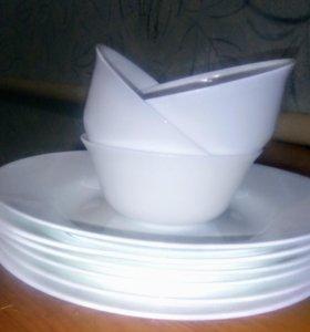 Тарелки + салатницы новые