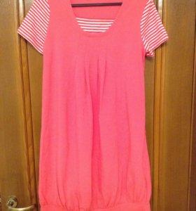 Платье домашнее розовое р.М новое