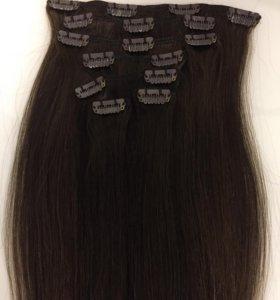 натуральные волосы на заколках (аренда)