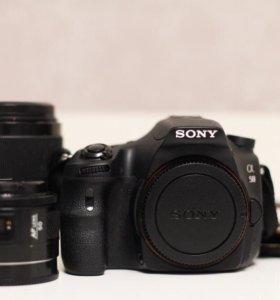 Sony a58 +Minolta 50mm 1,4+kit 18-155mm