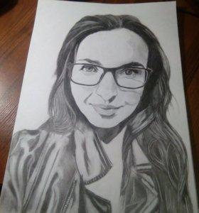 Портрет с фото карандашом а3 формат