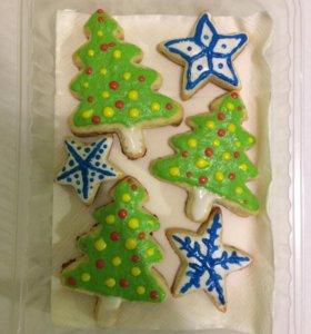 Новогодние печенье в подарок для ваших близких!