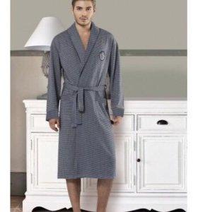Мужской халат. Новый