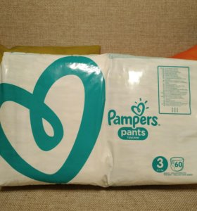 Pampers active baby dry 3, 4 (pants) много