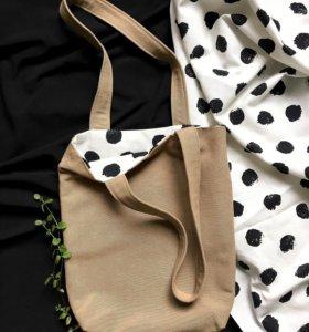 Шоппер сумка/ хлопок/ tote bag/ эко сумка/ eco bag