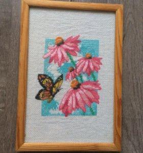 Вышивка крестом бабочка