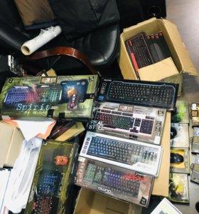 Игровые наборы Клавиатуры,мышка QUMO