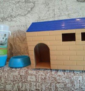 домик с кормушкой и поилкой