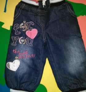 Утепленные джинсы до 80см