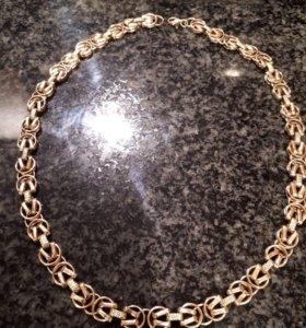 Золотая цепь(ожерелье)