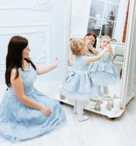 Платья фэмили лук (family look) для мамы и дочки