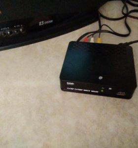 Телевизор IG, приставка, антена.