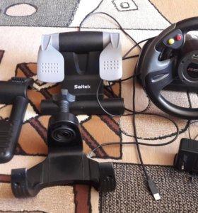 Компьютерный руль Racing trans-world Saitek R 440