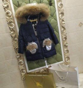 Парки/пальто на девочек зимние