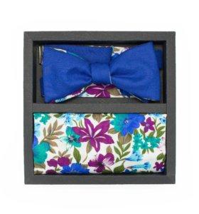 Набор (галстук-бабочка, платок-паше, запонки)