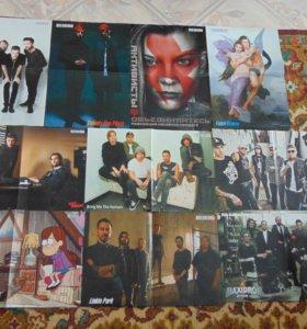 Плакаты рок/поп групп, фильмов, сериалов
