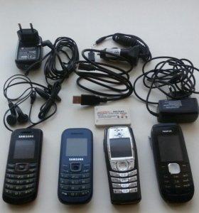 Телефоны, провода, зарядники, наушники .