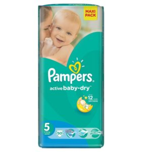 Pampers active beby-drey № 5 (50 шт)