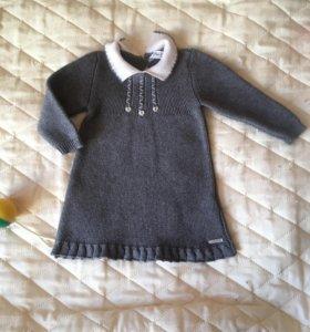 Платье шерстяное вязанное 68р