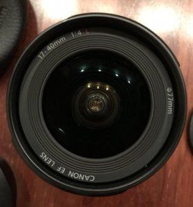 Объектив Canon EF 17-40мм f/4.0L USM