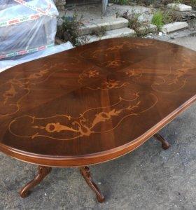 италянский обеденный овальный стол