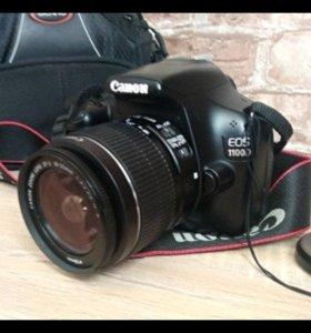 Новый зеркальный фотоаппарат canon 1100d