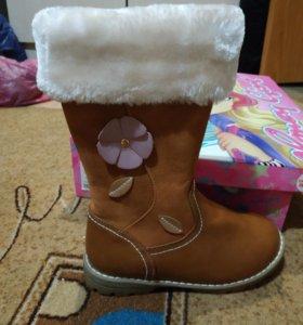 Новые зимние сапоги для девочки