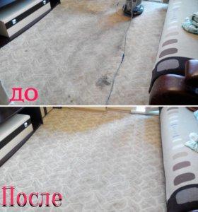 Химчистка ковров и мебели.Уборка квартир