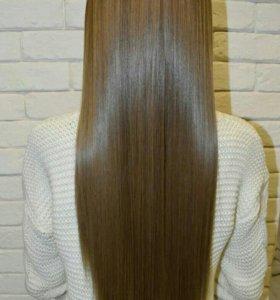 кератиновое выпрямление/нанопластика/ботокс волос