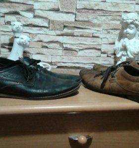 Натуральная кожа мужские туфли
