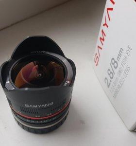 Samyang 8mm f2.8 fisheye для Sony E
