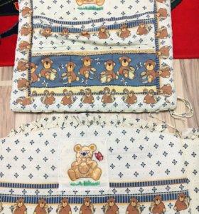 Бортики в кроватку Мишка