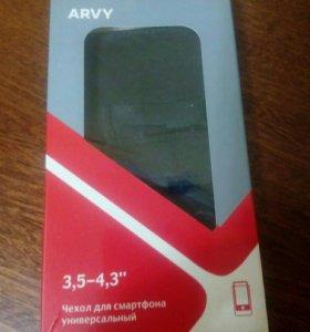 Новый  кожанный чехол для смартфонов в упаковке