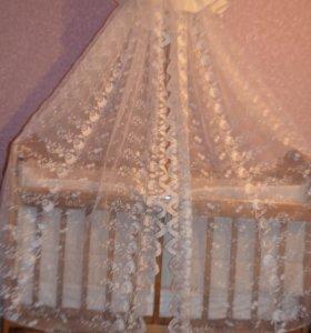 Кровать Наша мама с маятником и ящиком + матрас