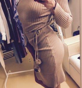 Платье лапша. Платье лапша с поясом .