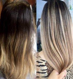 Окрашивание волос,балаяж, шатуш, омбре
