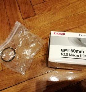 Объектив Canon EFS 60mm f/2.8 Macro USM