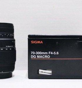 Sigma 70-300 mm f4-5.6 dg macro, Canon EF
