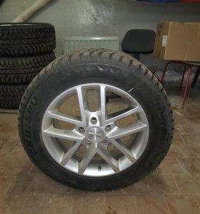 Комплект зимних шипованных колес для vw touareg