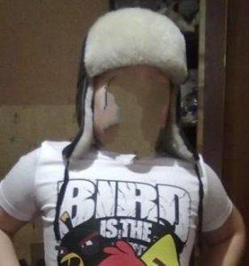 Детская дубленчатая натуральная шапка