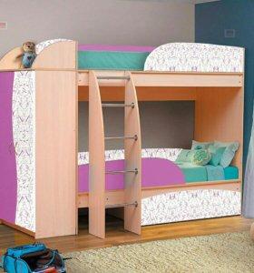 Детская 2-х ярусная кровать