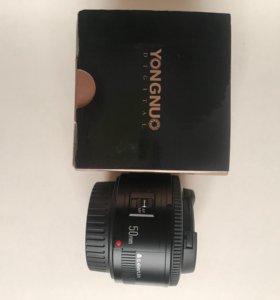 Новый объектив Yongnuo 50mm f 1.8